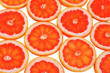 Sliced fresh grapefruit background