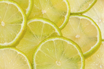 Sliced fresh lime background