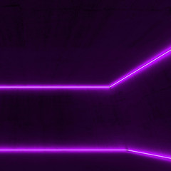 Neon light lines, 3d render