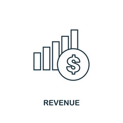 Revenue outline icon. Thin line element from crowdfunding icons collection. UI and UX. Pixel perfect revenue icon for web design, apps, software, print usage