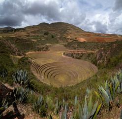 Moray maras archeological site in Peru