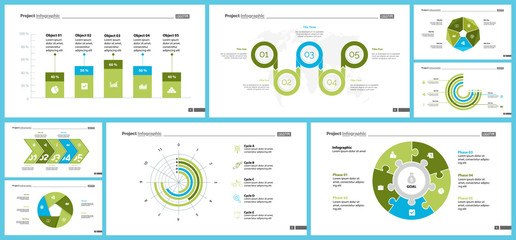 Creative business infographic design for project management concept