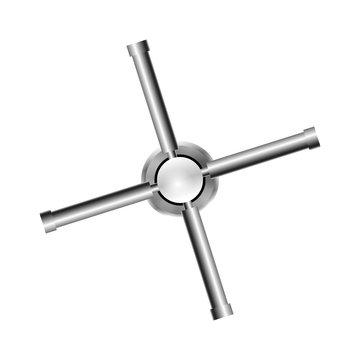 Metal Combination Lock Isolated Vector.