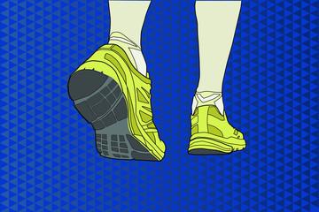 Detalle de unas zapatillas deportivas