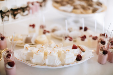 Beautiful dessert table for a wedding party