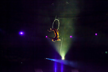 air circus performances in the circus Wall mural