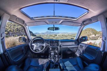 Samochód widok wnętrze