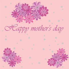 Happy mother's day. postcard. copy space