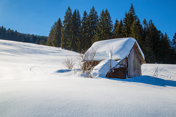 Allgäu - Hütte - Stadel - Winter - malerisch