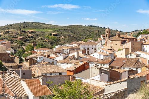 A View Over La Hoz De La Vieja Village Province Of Teruel Aragon