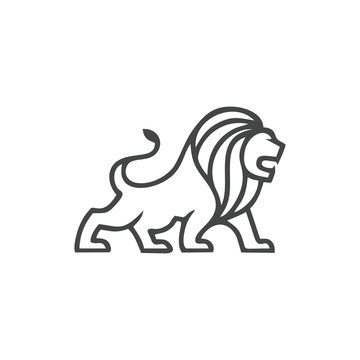 Lion Outline Logo Vector