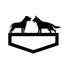 dog shield vector logo