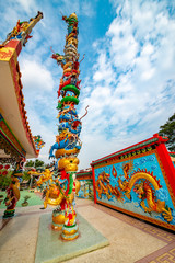 Chinese temple in Kanchanaburi, Thailand