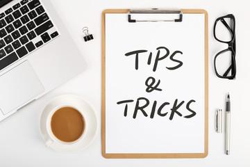 Tips And Tricks Concept On Desktop