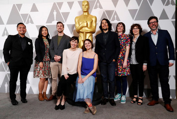 Nominees for Oscar-nominated animated short films pose ahead of the 91st Academy Awards, in Beverly Hills