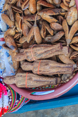 Dried Nariphon fruits for sale at the amulet market