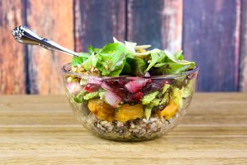 Winter Salad with Cranberries, Walnuts & Sweet Potatoes