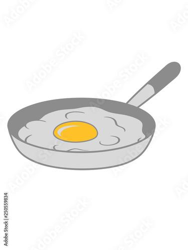 Bratpfanne Spiegelei Kochen Braten Essen Ei Eigelb Eiweiss Fruhstuck