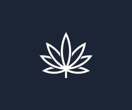 cannabis logo design template