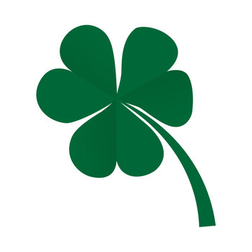 Green clover leaf icon for St. Patrick's Day