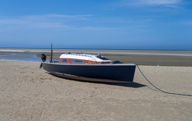 Stranded sailboat