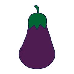 eggplant vegetables food symbol blue lines