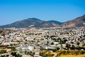 The landscape of  of the lovely touristic city of Bodrum