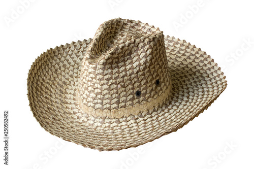 06df7187d93 straw hat isolated on white background with clipping path