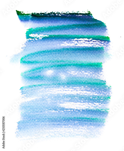 Abstract hand drawn watercolor  Colorful splashing in the paper  It