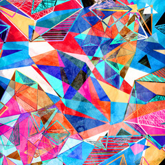 Abstract geometric background with different elements