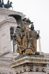 Il Pensiero, The Thought sculpture at the Altar of Fatherland from Piazza Venezia, Rome, Italy. The monument is also known as National Monument to Victor Emmanuel II, Vittoriano