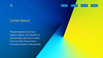 Abstract Colorful Landing Page Template. Aspect Ratio 16:9. EPS 10 Vector. Wall mural