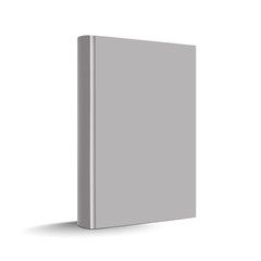 Blank White Vertical Hardcover Book - Vector Illustration - Isolated On White Background
