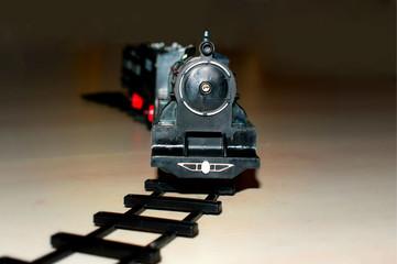 toy locomotive and railway