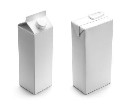 Milk or juice blank carton