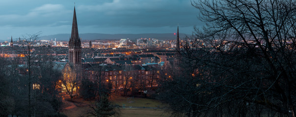 Glasgow CityScape South Side from Queens Park view point