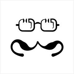 Moustache And Glasses Icon, Mustache And Glasses Icon