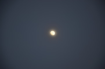 Bright moon in clear sky