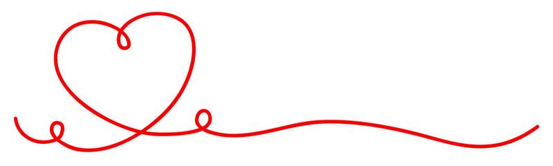 Rotes Herz Linie
