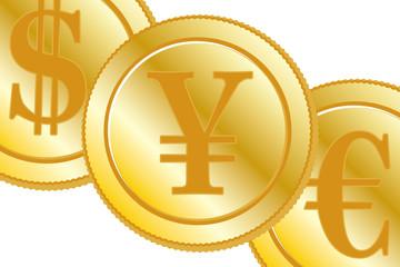 金融ビジネスイメージ,FX取引,為替相場,海外投資,米ドル,日本円,ユーロ,米国,日本,EU,$¥€