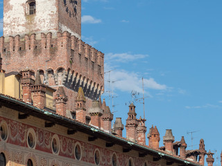 Wall Mural - Vigevano, italy: the historic Piazza Ducale