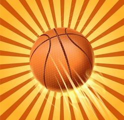 retro basketball fire
