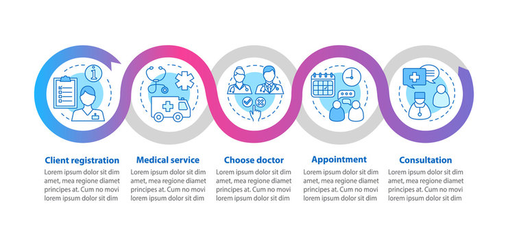 Medical service vector infographic template