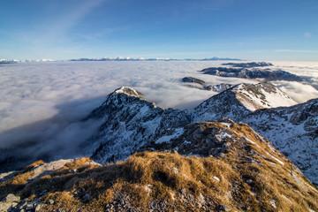 morning light at mountain peak