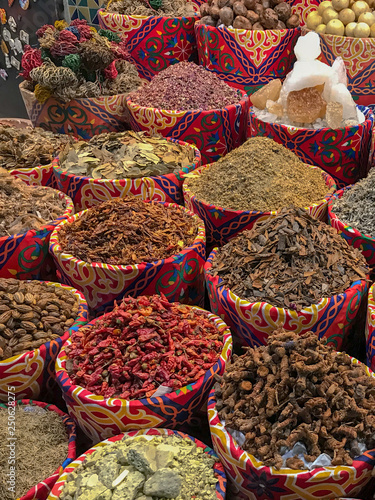 Eastern spices on the natural market in Egypt, Turkey, India