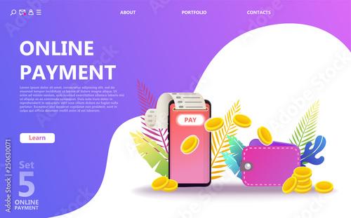 Online payment concept illustration set  Internet payments