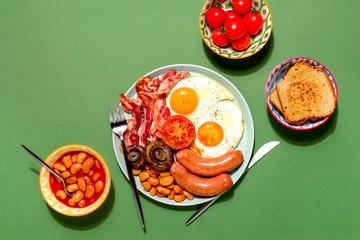 English breakfast concept