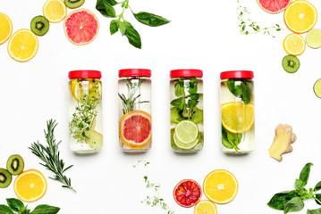 Infused waters with various ingredients