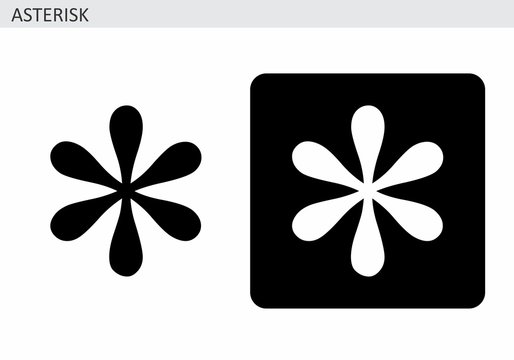 Asterisk symbol illustrations