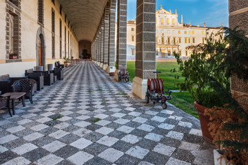 Villa Manin, former residence of the Doge of Venice. Colors of the sunset. Passariano, Codroipo